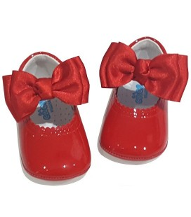 Pram baby shoes red 712