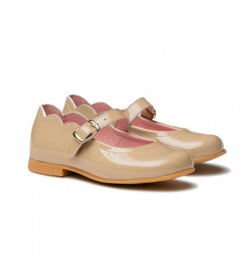 Patent Leather Ballerina 1100 camel