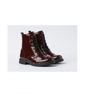 Patent Boot red
