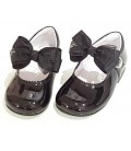 Mary Jane patent leather 4199 black with Cristal bow