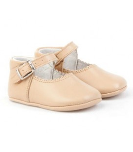 Pram shoes for baby Angelitos 240 camel