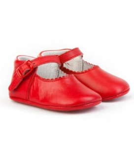 Pram shoes for baby leather Angelitos 240 red