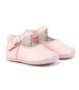 Pram shoes for babies Angelitos 240 pink