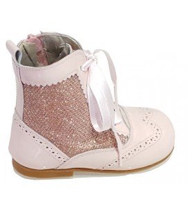 Glitter and patent boot pink