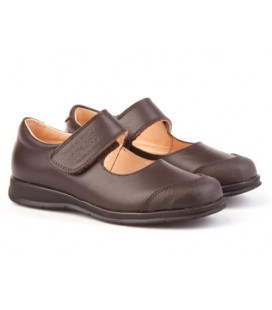 Girls school shoes Angelitos 463 brown