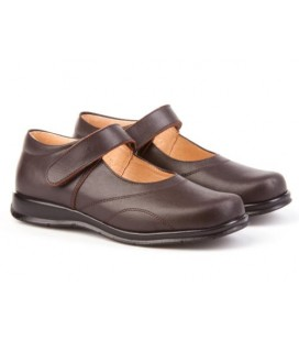 Girls shool shoes Angelitos 461 brown