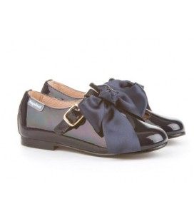 Girls shoes Ballerina Patent 516 navy