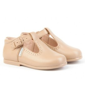 Boys T-bar shoes Angelitos 503 camel