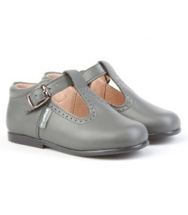 T- bar boys shoes Angelitos 503 grey