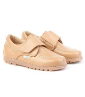 Boys shoes with velcro Angelitos 301 camel