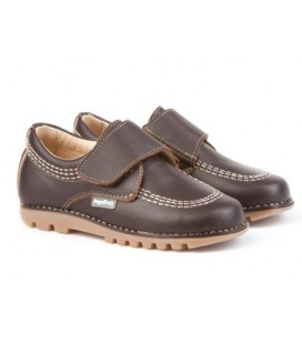 Boys shoes with velcro Angelitos 301 choco