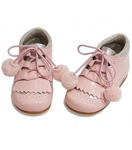 Pom pom Boots in patent combi pink 5025