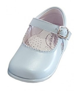 Mary Jane Girls shoes in leather baby blue