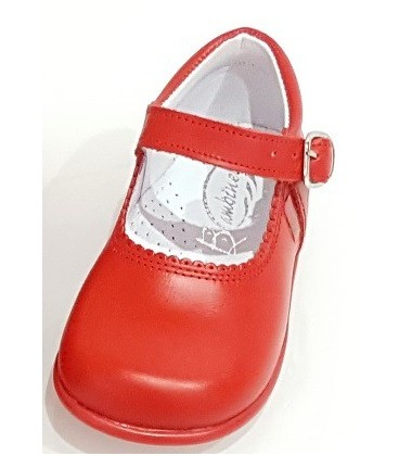 457 Girls shoes in leather red