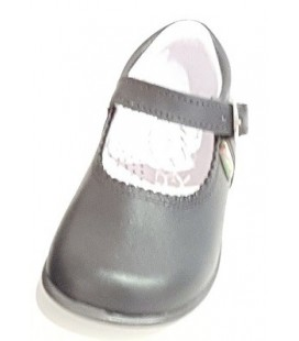 457 Girls shoes in leather grey
