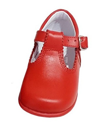 463 Boys shoes in leather red