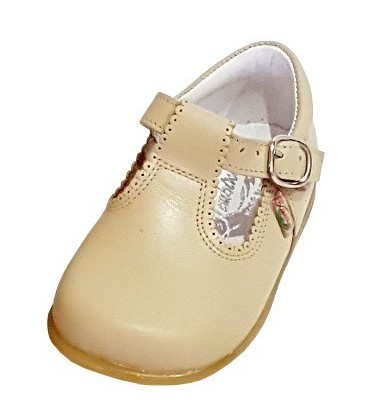 463 Boys shoes in leather camel