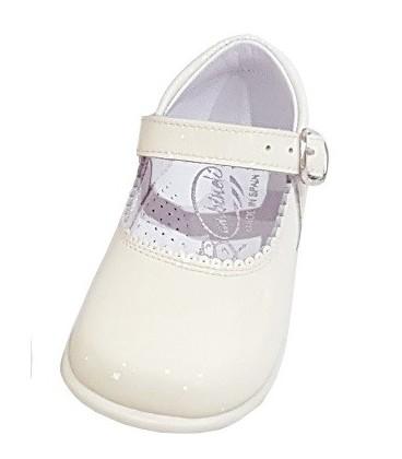 457 Zapato de niña en charol beig