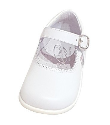 457 Girls shoes in leather white