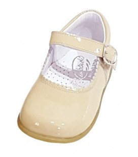 457 Girls shoes in patent camel