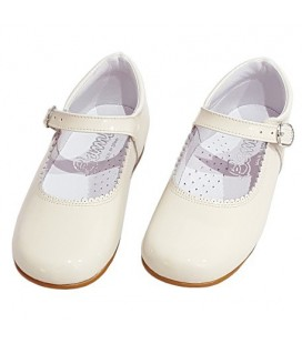 Girls Mary Jane patent leather 4199 cream