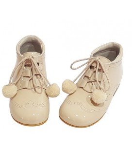 Pom pom shoes camel 4511
