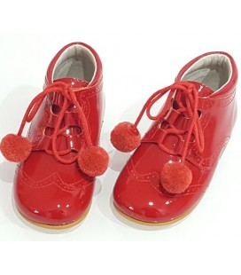 Pom pom shoes red 4511
