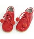 4511 pom pom shoes red