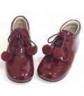 4511 pom pom shoes burgendy
