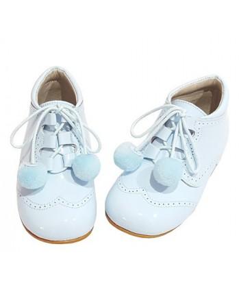 4511 pom pom shoes baby blue