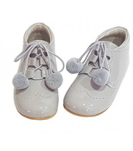 Pom pom shoes grey 4511