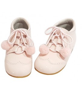 Girls pom pom shoes pink 4511