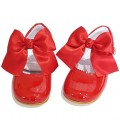 Mary Jane patent leather 4199 red with Julieta bow