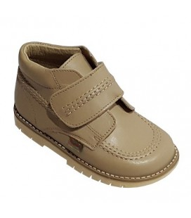 925 Kickers Boys' camel leather boots