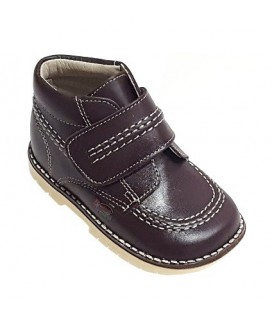 925 Kickers Boys' choco leather boots