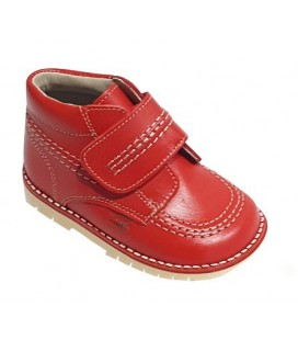 925 Kickers girls' leather red