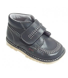 925 Kickers boys' leather grey