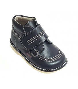 925 Kickers boys' leather navy