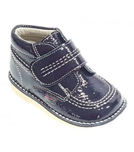 925 Kickers unisex boots navy patent leather