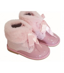 Girls Bambinelli boots with fur 5207 pink