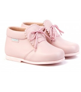 Girls Leather boots Angelitos 422 pink