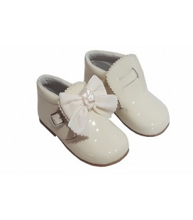 Baby boots with velvet bow 5161