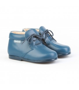 Girls Leather boots Angelitos 422 blue