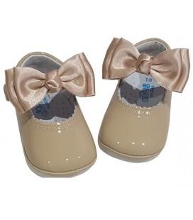 Pram baby shoes camel 712
