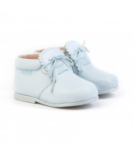 Girls Leather boots Angelitos 422 sky-blue