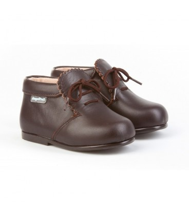 Girls Leather boots Angelitos 422 chocolate