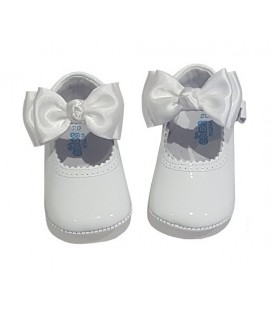 Pram shoes white 712