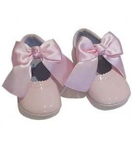 Pram shoes baby pink 712