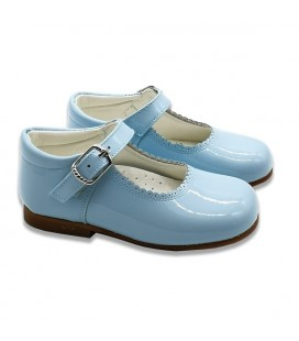 Mary Jane patent leather 4199 sky blue