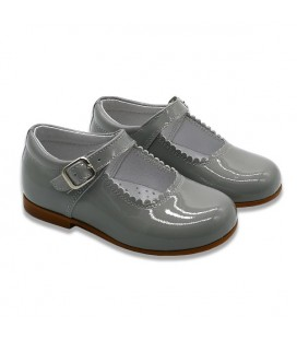 Mary Jane patent leather 4199 grey